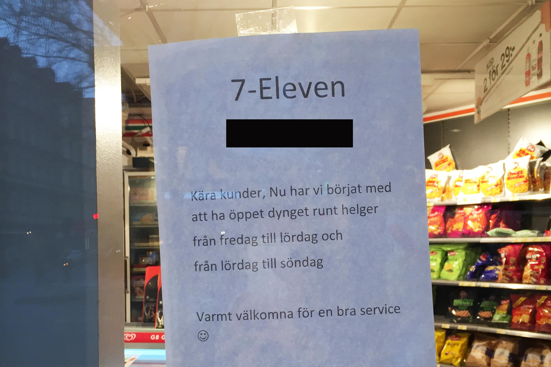 7 eleven öppettider