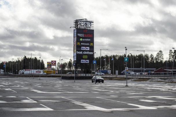 Kundparkering i Charlottenberg.